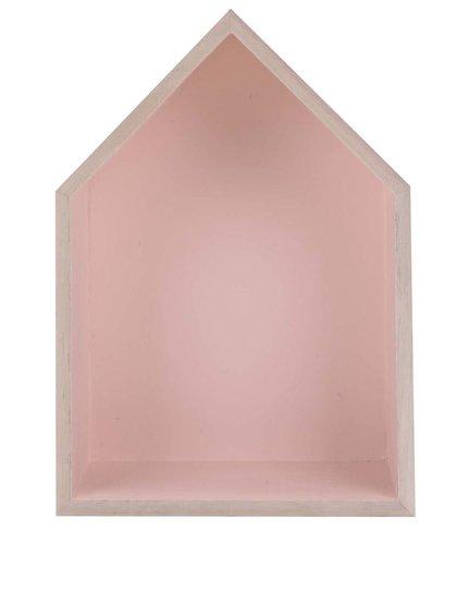 Růžový závěsný malý domeček Dakls