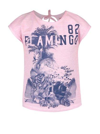 Ružové dievčenské tričko bez rukávov Cars Jeans Cameron