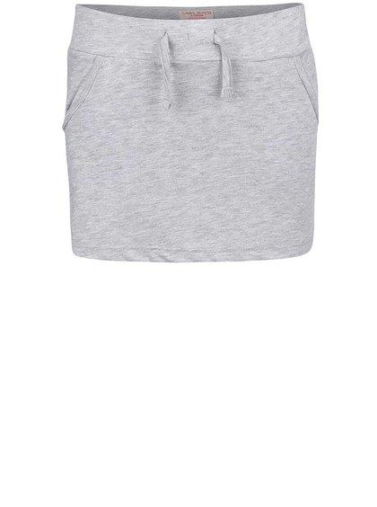 Sivá dievčenská sukňa so šnúrkou Cars Jeans Selma