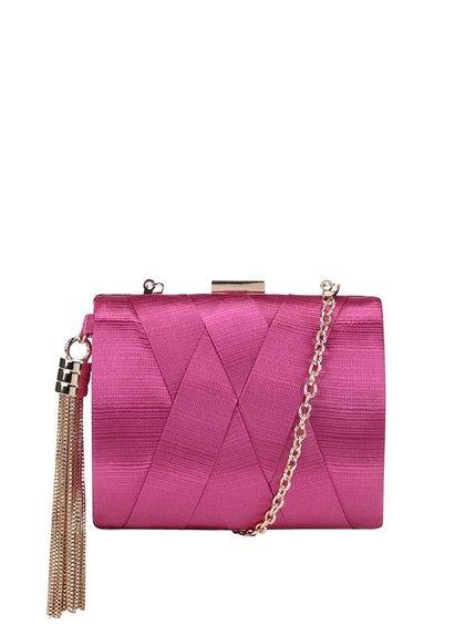 Ružová malá plisovaná listová kabelka Dice Handbags