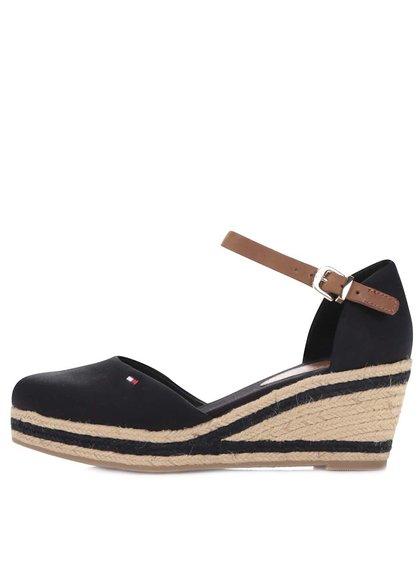 Čierne dámske nižšie bavlnené topánky na platforme Tommy Hilfiger