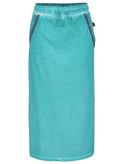 Tyrkysová dievčenská dlhšia sukňa Cars Jeans Miggy