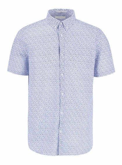 Bílá vzorovaná košile s krátkým rukávem Tailored & Originals Orford