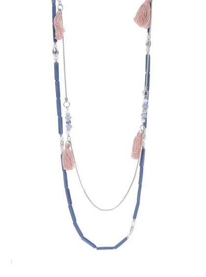 Modrý korálkový náhrdelník Pieces Becca