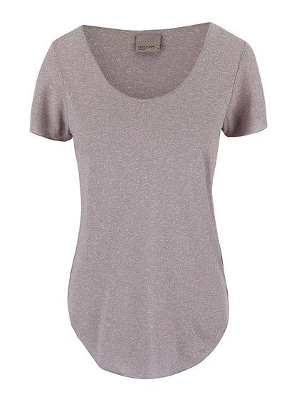 Světle šedé delší tričko Vero Moda Lua