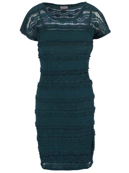 Petrolejové krajkované šaty VERO MODA Maya
