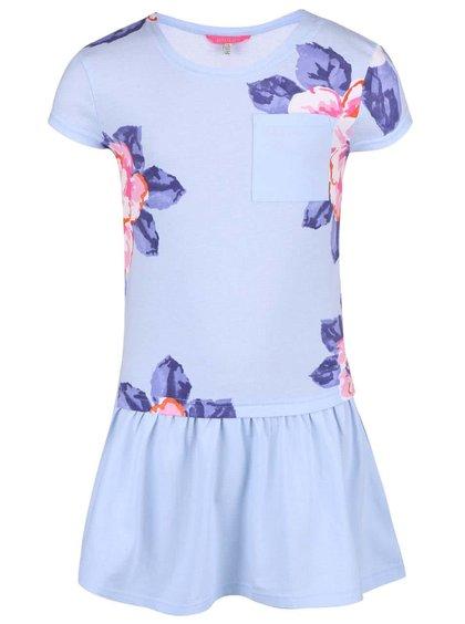 Modré holčičí šaty s květy Tom Joule Jessica