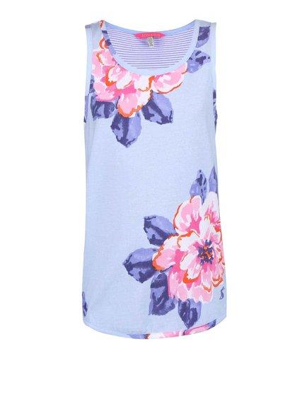 Modré dievčenské tielko s pruhmi a kvetmi Tom Joule Iris