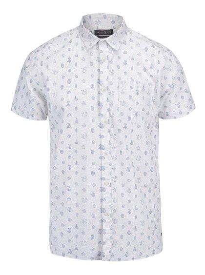 Krémová košeľa s krátkym rukávom Jack & Jones Cactus