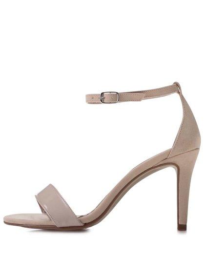 Béžové sandálky na podpatku OJJU