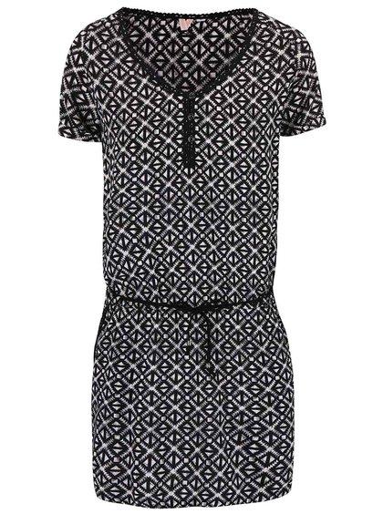 Bílo-černé vzorované šaty Rip Curl Maquey