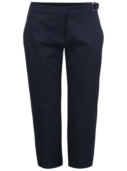 Tmavě modré formální tříčtvrteční kalhoty Dorothy Perkins Petite