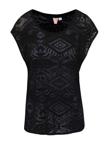 Černé dámské tričko s aztéckým vzorem Rip Curl Anam