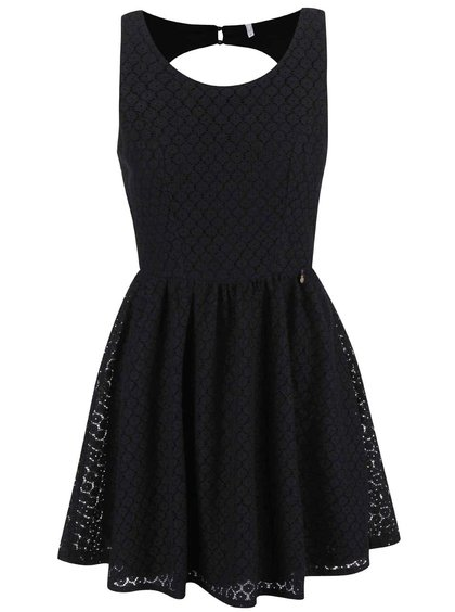 Čierne čipkované šaty ONLY Line Fairy