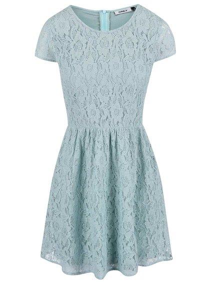 Zelené čipkované šaty ONLY Marun