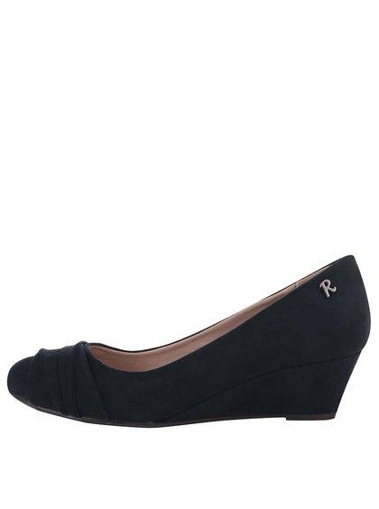 Tmavomodré topánky na klinovom podpätku Refresh