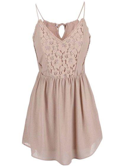 Béžové šaty na ramínka Vero Moda Sucre