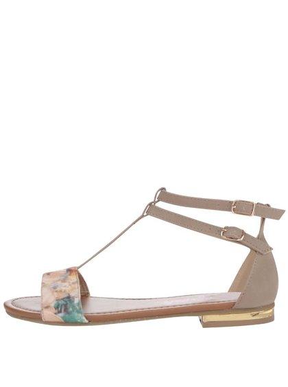 Sivé sandálky s kvetovaným motívom Refresh