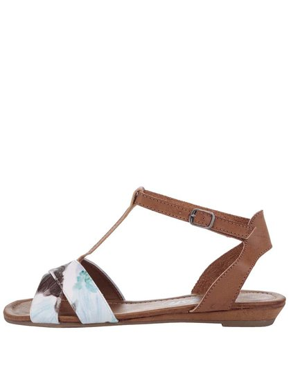 Modro-hnědé vzorované sandálky Refresh