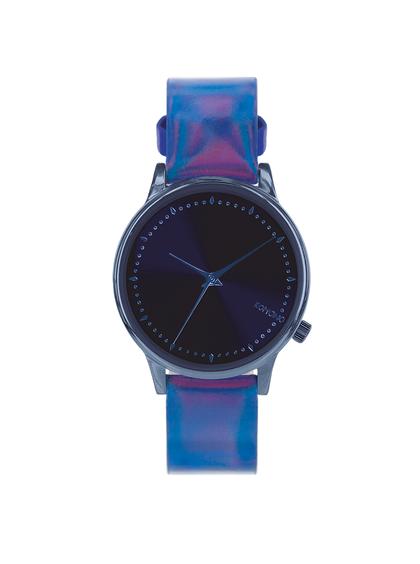 Modré dámske lesklé hodinky Komono Estelle Iridescent Cobalt