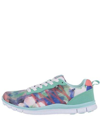 Pantofi sport Bassed turcoaz cu imprimeu