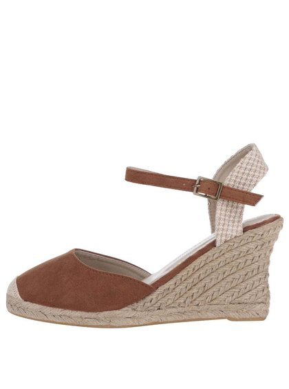 Krémovo-hnědé boty na klínku Dorothy Perkins