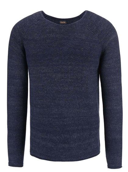 Modrý žíhaný svetr !Solid Birkett
