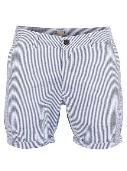 Pantaloni scurți !Solid Alvar albi cu dungi albastre