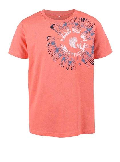 Ružové chlapčenské tričko s nápisom name it Victor