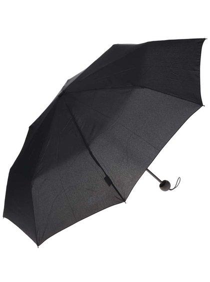 Černý unisex skládací deštník s.Oliver