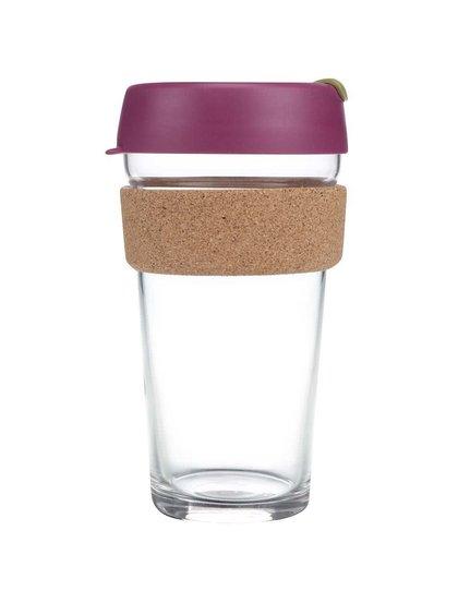 Designový cestovní skleněný hrnek KeepCup Brew Cinnamon Cork Large