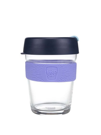 Designov� cestovn� sklen?n� hrnek KeepCup LP Black Medium