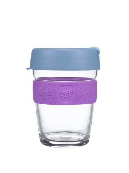 Designový cestovní skleněný hrnek KeepCup Brew Lavender Medium