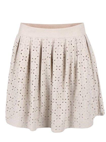 Béžová sukně s perforovaným vzorem ONLY Lola