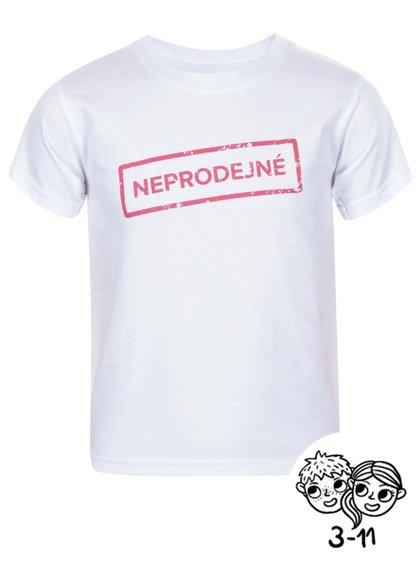 Bílé dětské triko ZOOT Kids Neprodejné