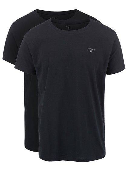 Sada dvou černých triček s kulatým výstřihem GANT
