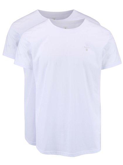 Sada dvou bílých triček s kulatým výstřihem GANT