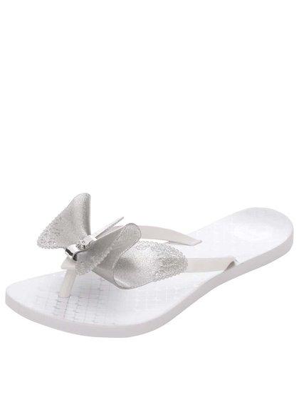 Șlapi Zaxy Fresh Butterfly albi cu fundă
