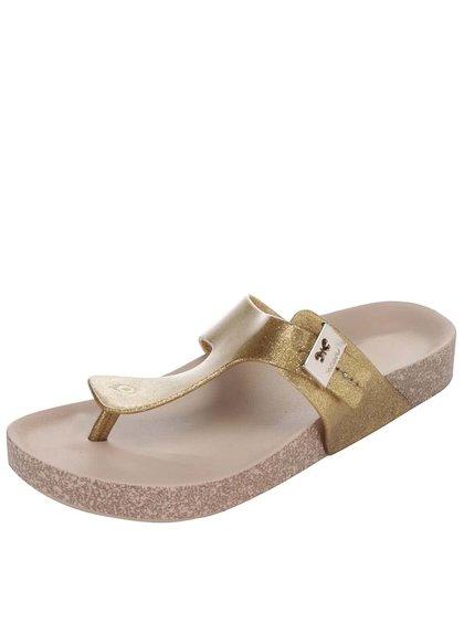 Ligotavé žabky v zlatej farbe Zaxy Fashion Flat Thong