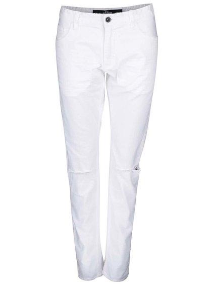 Bílé pánské skinny džíny s roztrhanými koleny s.Oliver