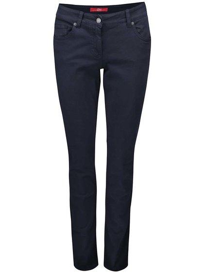 Tmavě modré dámské Slim Fit kalhoty s.Oliver
