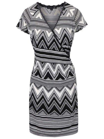 Černo-bílé šaty se vzorem Smashed Lemon