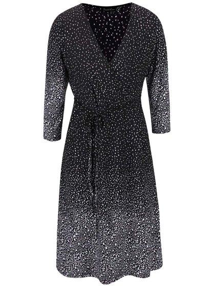 Čierne šaty s bielym vzorom Smashed Lemon