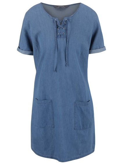 Modrá rifľová tunika Dorothy Perkins