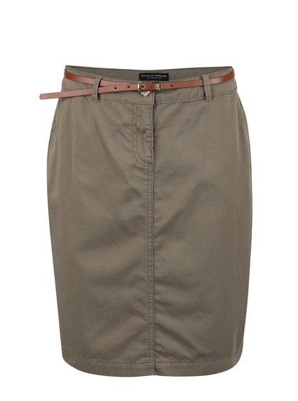 Khaki sukně s páskem Dorothy Perkins
