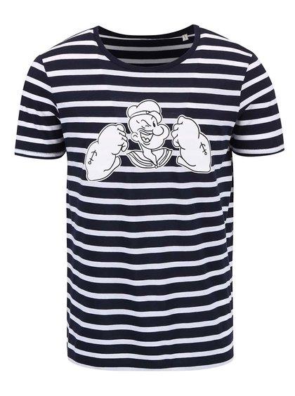 Tricou bărbătesc ZOOT Original alb-albastru