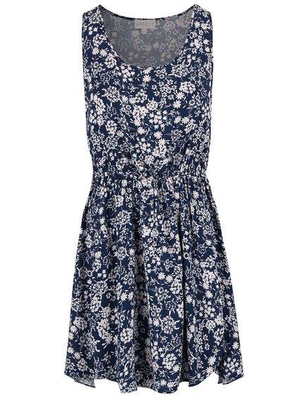 Tmavomodré kvetinové šaty Apricot
