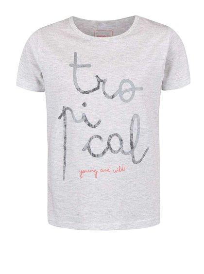 Šedé holčičí tričko name it Veen