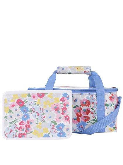 Modro-biela kvetovaná chladiaca taška Cath Kidston