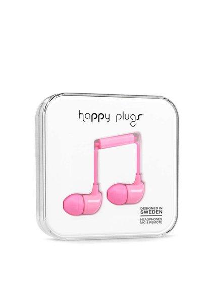 Svetloružové In-Ear slúchadlá Happy Plugs